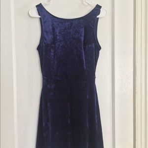 H&M Dresses - Blue Velvet Dress